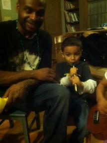 Big Dante and Lil' Dante at E-house jam night.